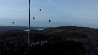 Hot air balloon ride: Hudson, Wis.