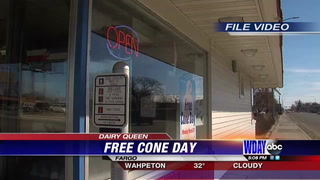 Specific Dairy Queen's take part in Free Cone Day