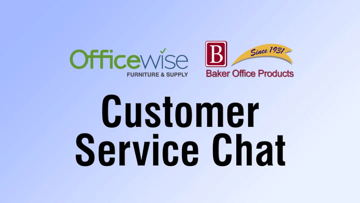 Customer Service Chat at shop.BakerOfficeProducts.com