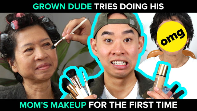 Son Does His Mom's Makeup For The First Time