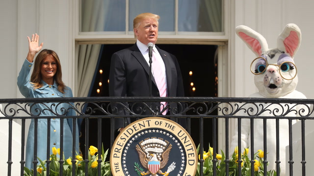 Trump welcomes families to White House Easter Egg Roll