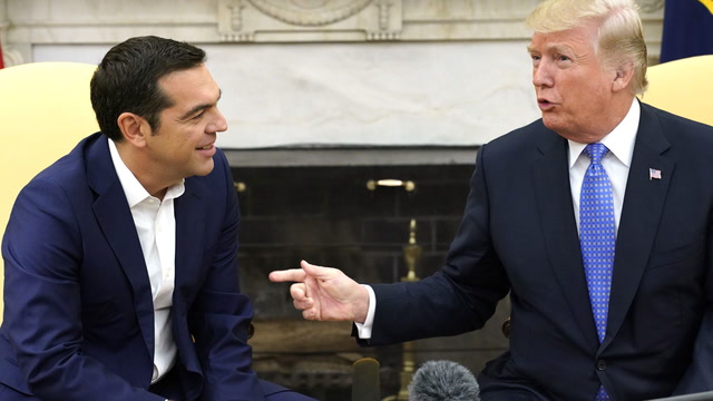 Trump welcomes Greek prime minister to the White House