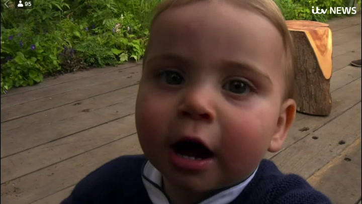 Duchess Kate and Prince William's 12-Month-Old Son Prince Louis Shows Off Walking Skills in New Video
