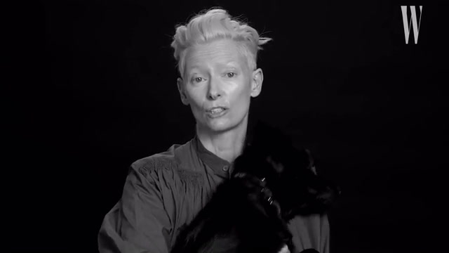 Tilda Swinton Cuddles with a Puppy During a New Interview