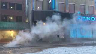 Steam line ruptures on Superior Street