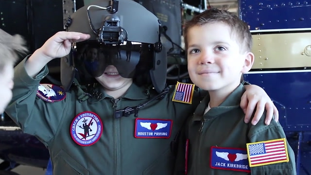 Cancer-surviving 'battle buddies' become pilots for a day