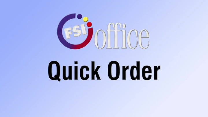 Quick Order | shop.FSIoffice.com