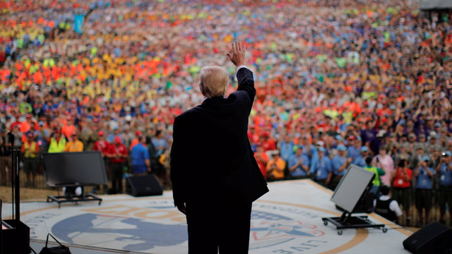 Trump speaks to the National Scout Jamboree, calls D.C. a