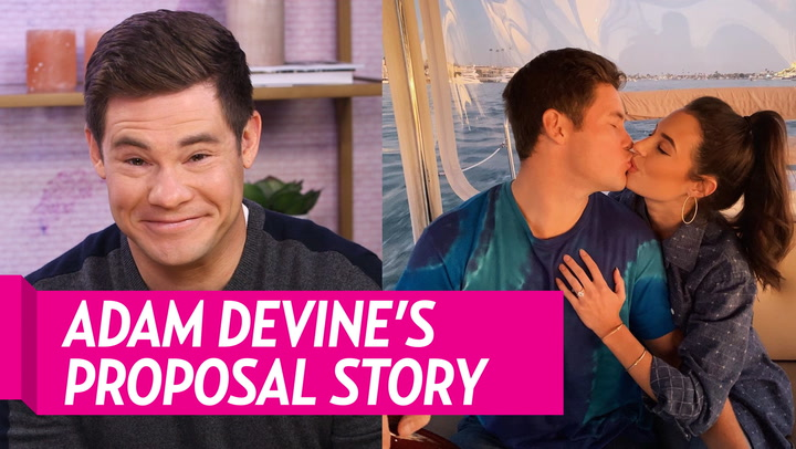 Adam DeVine Shares How He Proposed to Fiancee Chloe Bridges: 'I Was Just So Nervous'