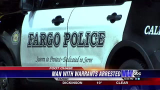Fargo PD arrest man after foot chase