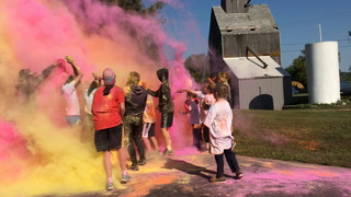 Color run at Moonshine Madness in Osakis