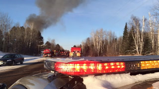 House fire northwest of Duluth