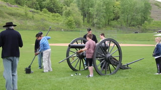 Civil War encampment at TBMS