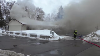 Crews battle fire at Moose Lake Motel