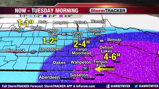 Tracking Snow Today - Tuesday AM