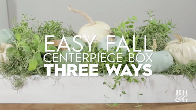 Fall Centerpiece Box Three Ways
