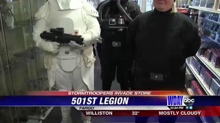 Storm Troopers make appearance at fitting celebration