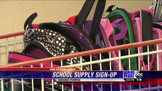 Salvation Army signs up families for school supplies