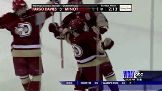 Boys Hockey: Red River, Minot, Bismarck advance