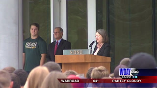 New NDSU students attend the President's Welcome ceremony