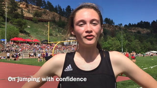 Carly Haring wins 3rd high jump state title