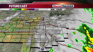 Tracking Monday Showers & T-showers