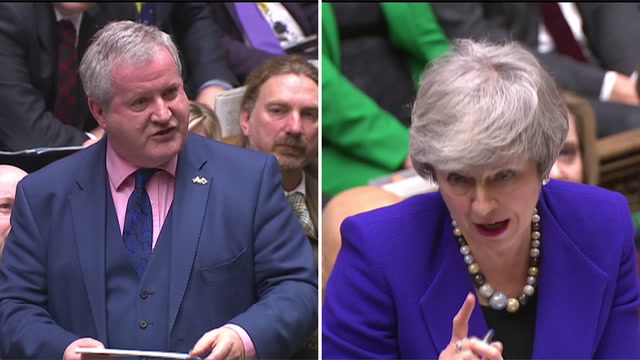 May responds to Blackford's 'Good Friday agreement' claim