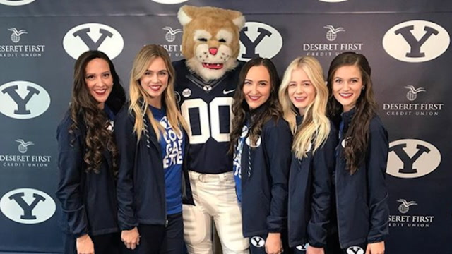 BYU's Cosmo the Cougar has better moves than most