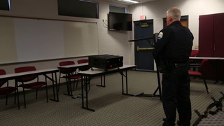 Breezy Point police train with Laser Shot simulation