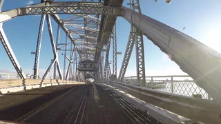 Driving over the Aerial Lift Bridge