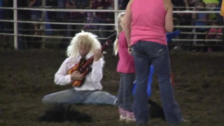 Air guitar contest at Corn Palace Stampede Rodeo