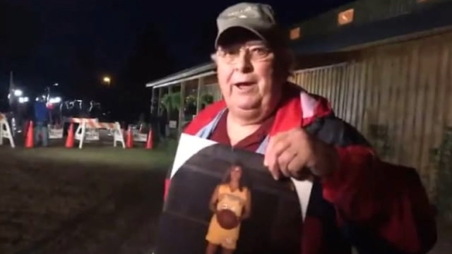 Alabama father whose gay daughter committed suicide speaks outside Moore rally