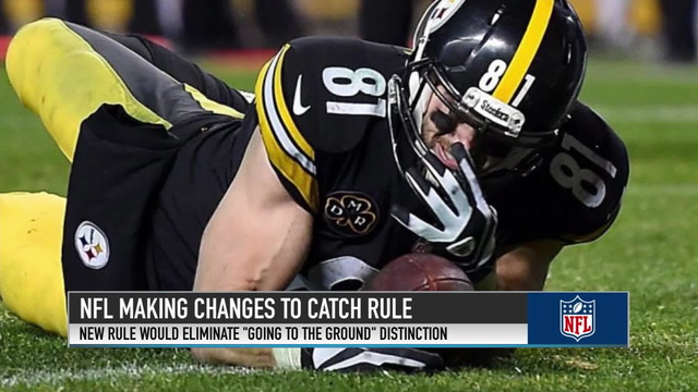NFL Makes Changes to Catch Rule