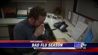 Flu cases double since last year