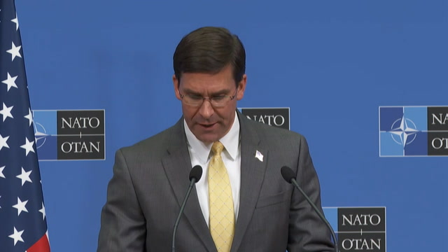Esper: U.S. will leave forces in Syria to 'deny' the Islamic State 'access to oil revenue'