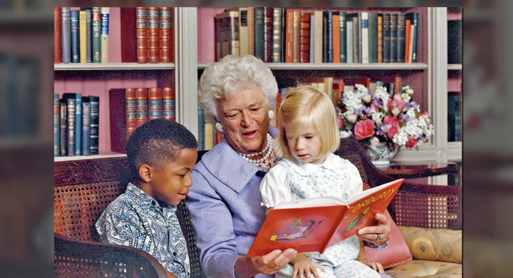 Former First Lady Passion for Literacy