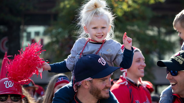 Scenes from the Nationals World Series victory parade