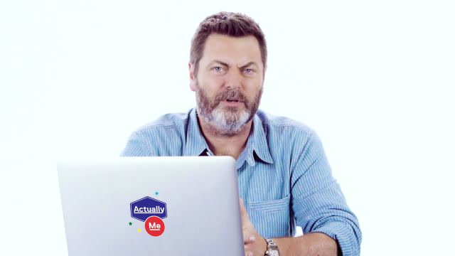 Nick Offerman Goes Undercover on Twitter, YouTube, and Reddit