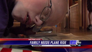 Leach family looking for plane ride to help their son