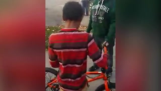Red Wing boy reacts to new bike