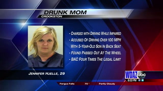 Crookston mom accused of driving drunk with 5-year-old for over 100 miles