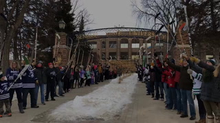 World's Largest Stick Salute at BSU