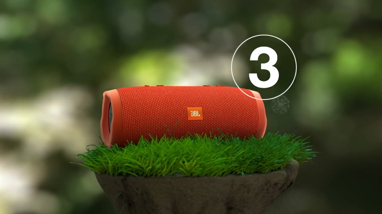 JBL 3284061 Charge 3 Portable Bluetooth Speaker Blue at The Good Guys