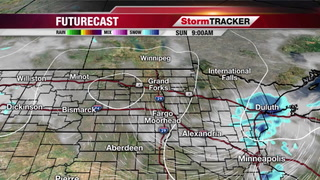 Sunday Forecast: Snow Moving Out, Turning Partly Cloudy
