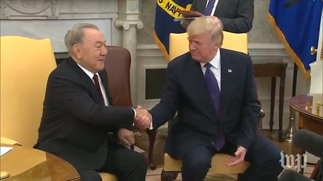 January 2018: Trump welcomes 'highly respected' president of Kazakhstan