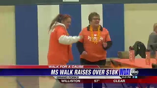 Eighth annual MS walk held in Grand Forks
