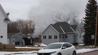 Mitchell Fire Department responds to a garage fire on South Duff street