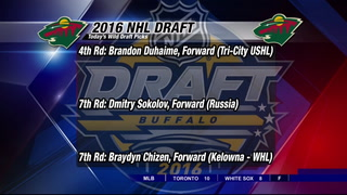 Wild take three more players in draft