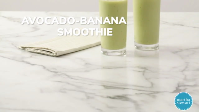 Avocado-Banana Smoothie Video