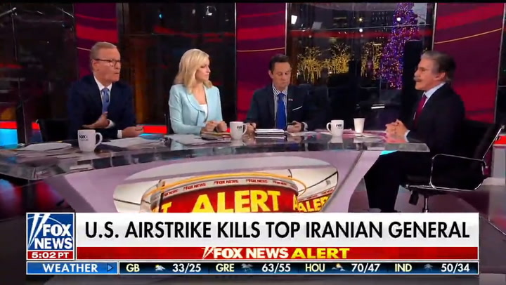 Fox's Geraldo Rivera and Brian Kilmeade Have On-Air Bust-Up Over Soleimani Strike